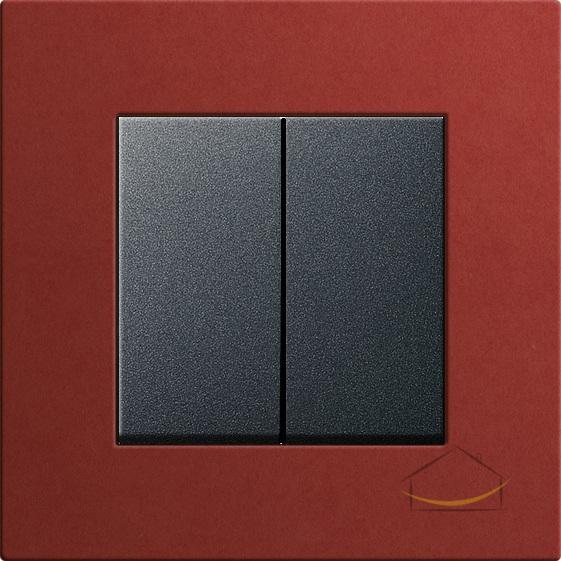 Bộ CT đôi đen nhám 10A-Khung đơn -Plywood đỏ