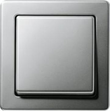 Bộ công tắc đơn Gira Stainless Steel Series 21