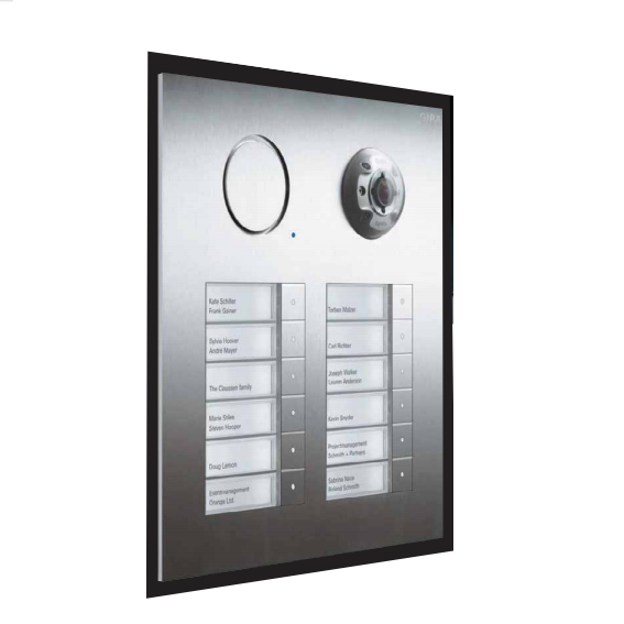 Gira door station stainless steel with 12-gang bell button