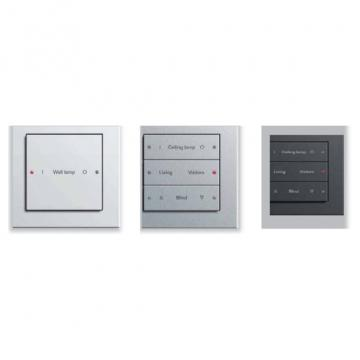 Gira push button sensors 3, Gira E 22 Stainless steel