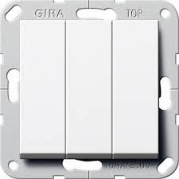 283003 – Công tắc 3 on/off trắng bóng Gira