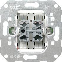 Rocker button insert 10A/250V double 2-way button
