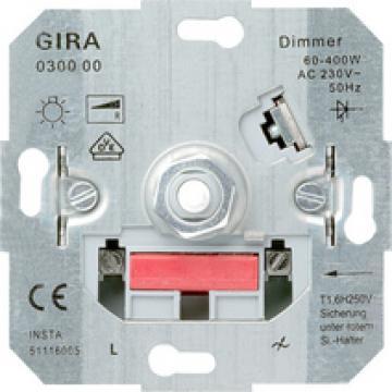 Ruột dimmer Gira xoay on/off điều chỉnh độ sáng đèn 400W