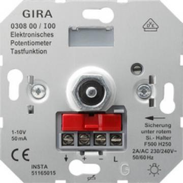 Ruột dimmer điều khiển bằng điện áp 1-10V Gira, nhấn on/off